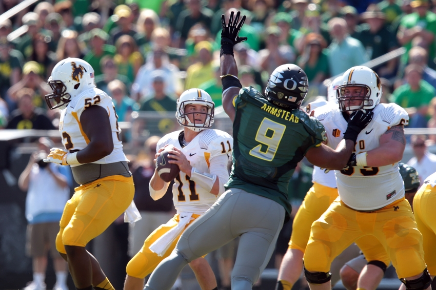 NCAA Football: Wyoming at Oregon